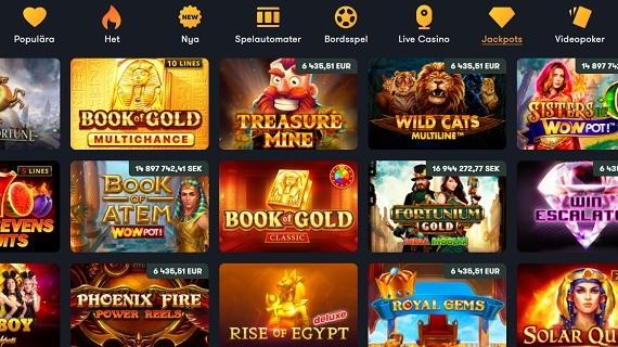 Frank Casino jackpots