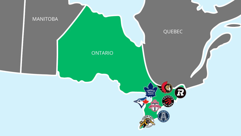 Sports Franchises Based in Toronto and Ottawa