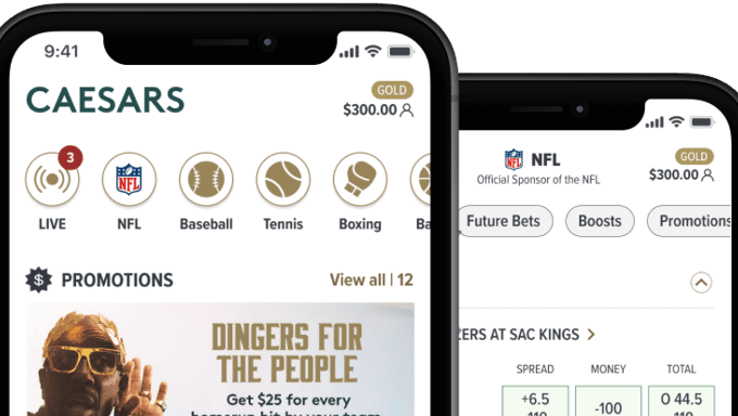 Caesars Announces Launch of Its New Sports Betting App