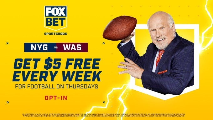 Get $5 Free Every Week for Thursday Night Football at FOX Bet