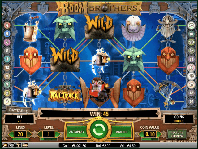 Boom Brothers™ Slot Machine Game to Play Free in NetEnts Online Casinos