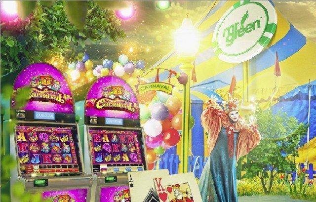 Karnevalsfest i ny spelautomat hos Mr Green