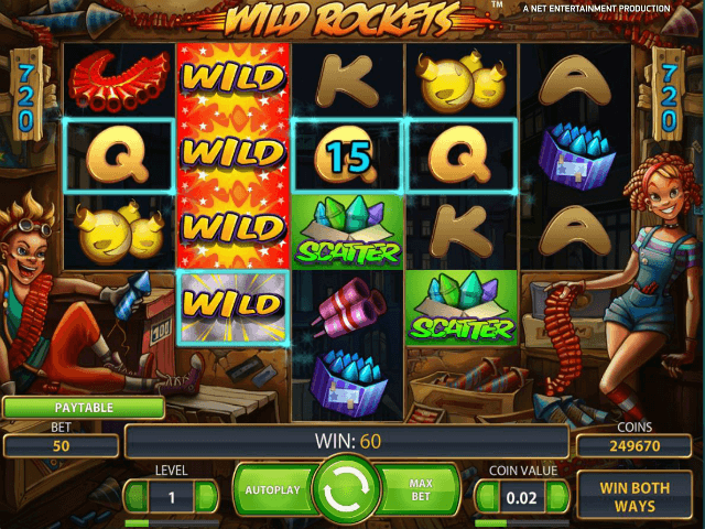 Wild Rockets™ Slot Machine Game to Play Free in NetEnts Online Casinos