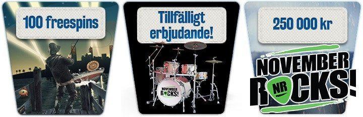 Än är inte rockfesten eller bonusen över i Sveas nätcasino!