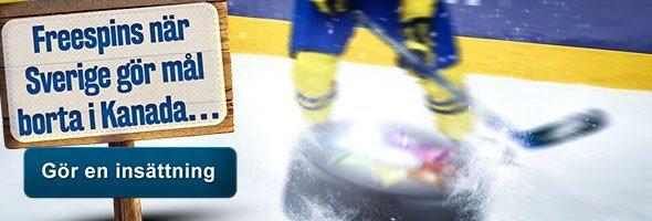 Casino bonus när Sverige gör mål i World Cup
