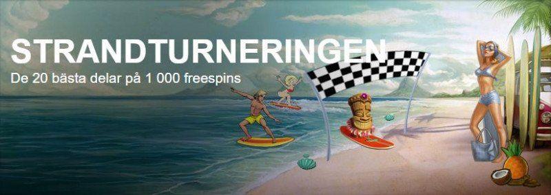 Strandfest i SverigeKronans nät- eller mobilcasino!