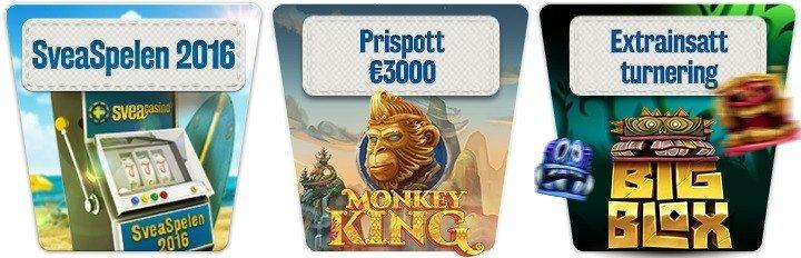 Sommarens bästa tävlingar fortsätter i Sveas online casino!