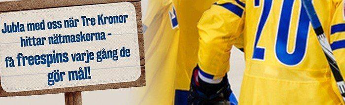 Få gratisspinn hos Svea Casino för varje mål Sverige gör!