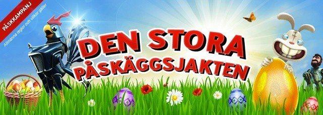 """Idag drar """"Den stora påskäggsjakten"""" igång hos SverigeCasino!"""