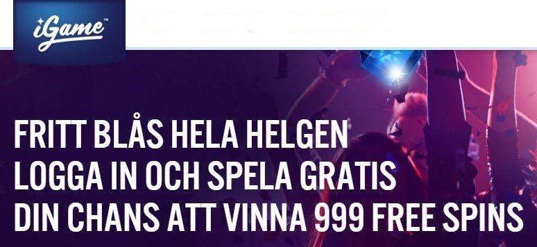 Vinn 999 free spins på ett free spin!