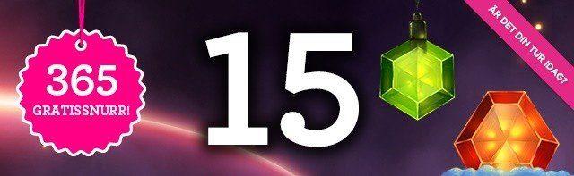 365 gratissnurr under 2016 hos Vinnarum