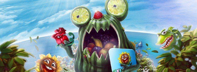 Fruktsallad på menyn hos Casino Heroes