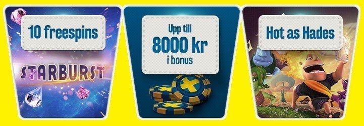 Testa Sveriges bästa casino och veckans hetaste spelsläpp!