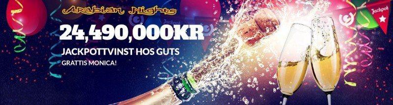 Ny storvinst till Sverige via Guts Casino!