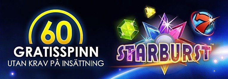 Freespins utan insättning hos SverigeKronan casino