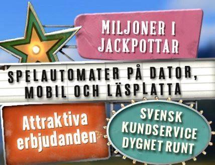 Sverigeautomaten erbjuder 200% matchning upp till €100!
