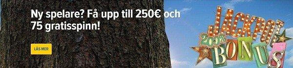 75 free spins hos SverigeAutomaten