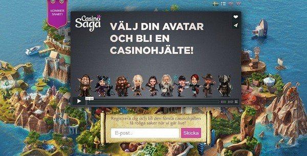 Enormt välkomsterbjudande till svenska spelare hos Casino Saga