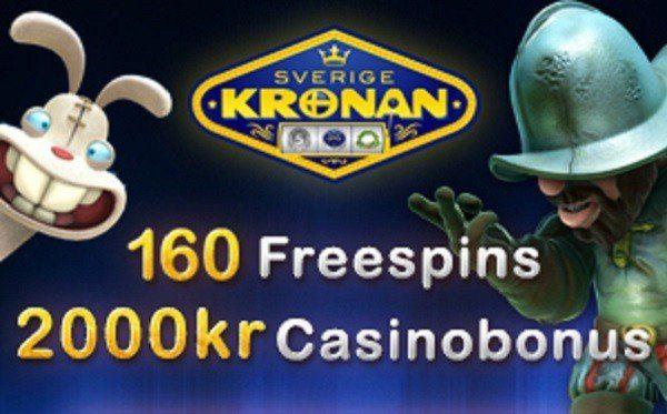 160 free spins hos SverigeKronan