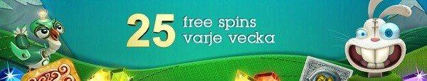 25 free spins till svenska spelare hos Casinofloor