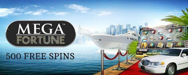 500 free spins i Mega Fortune för 200 kronor!
