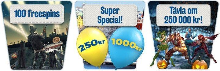 Super-november med nya bonusar i Sveas casino!
