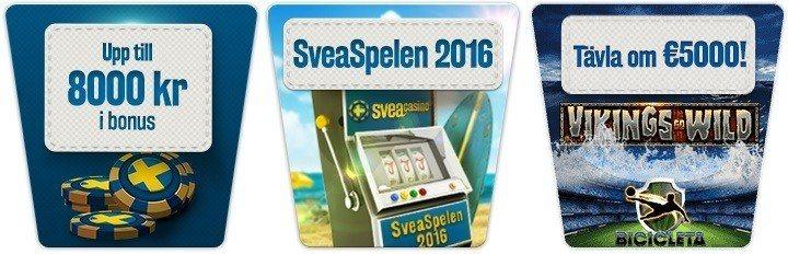 Nu är Casinospelen 2016 igång på allvar hos SveaCasino!