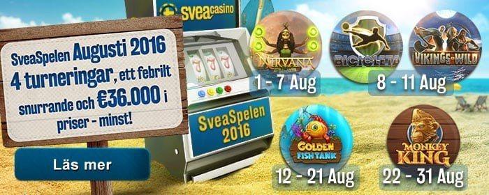 Casinospelen 2016 är invigda hos SveaCasino!
