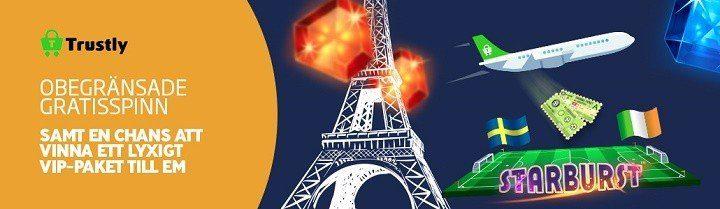 Free spins utan omsättningskrav och biljetter till EM 2016 hos det nya casinot