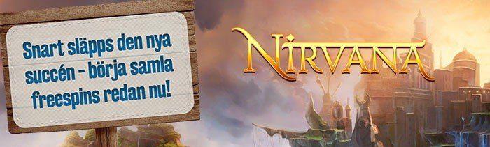 Upp till 500 free spins i nya casinospelet Nirvana