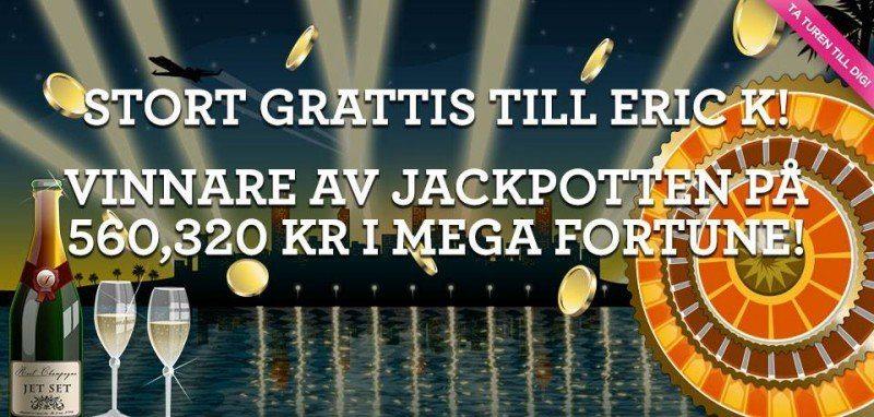 Svensk jackpottvinnare hos Vinnarum