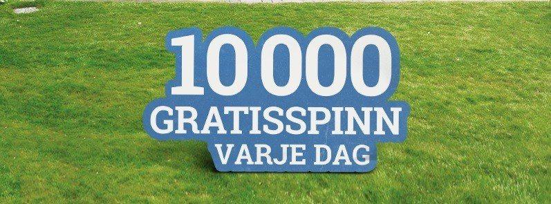 100 dagar 1,000,000 free spins!