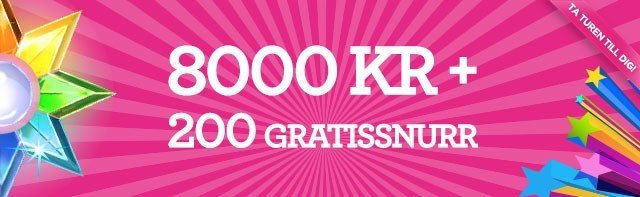 Matematik hos Vinnarum Casino - 200kr = 600kr & 200 freespins