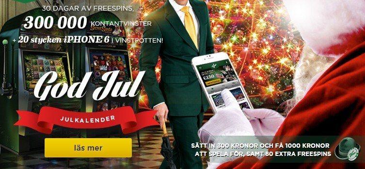 Mr Green casino först ut med årets julkalender!