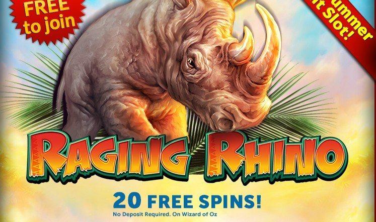 20 Freespins på Raging Rhino