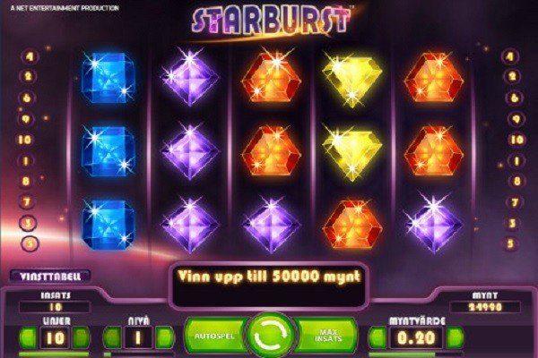 10 Freespins på Starburst hos AhaCasino