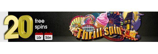 20 freespins på Thrill Spin