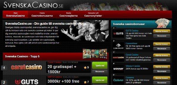 Vår systersite Svenska Casino