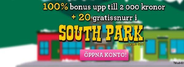 Vinnarum ger ut Freespins på South Park
