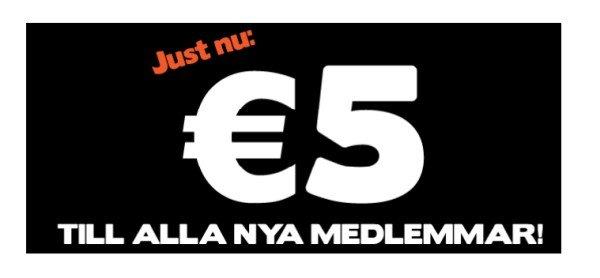 ahaCasino ger €5 till ALLA nya Medlemmar