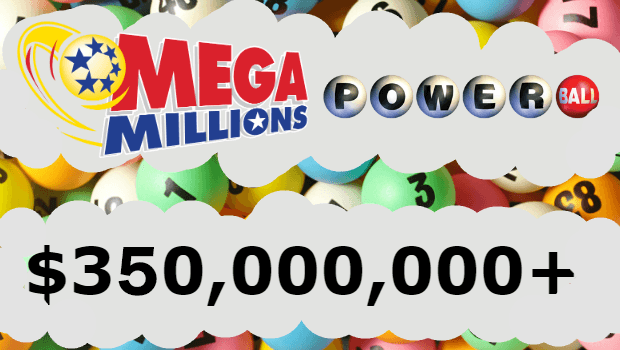 Both US Lotteries Mega Millions and Powerball Top $350m
