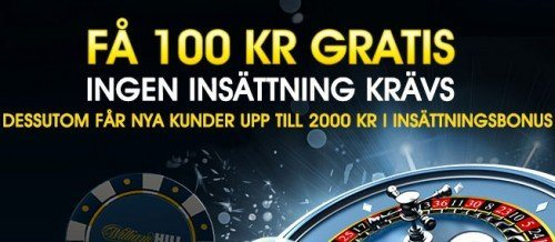 100:- SEK Gratis - William Hill