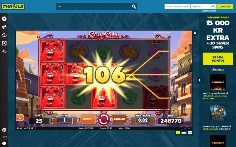 Hårt för casinon att konkurrera med Thrills nya spel 2017