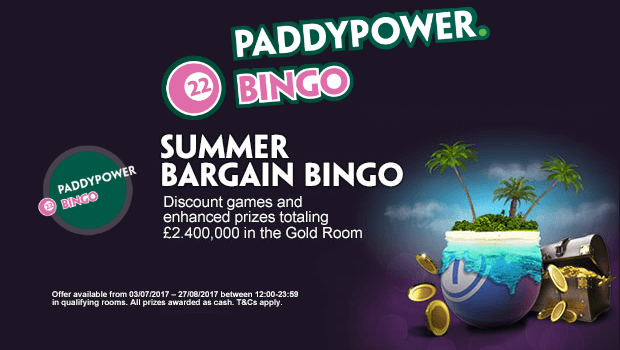 Don't Miss Paddy Power Bingo Giving Away £2.4m this Summer