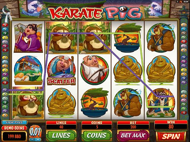 Karate Pig Online Slot - Microgaming - Rizk Online Casino Sverige