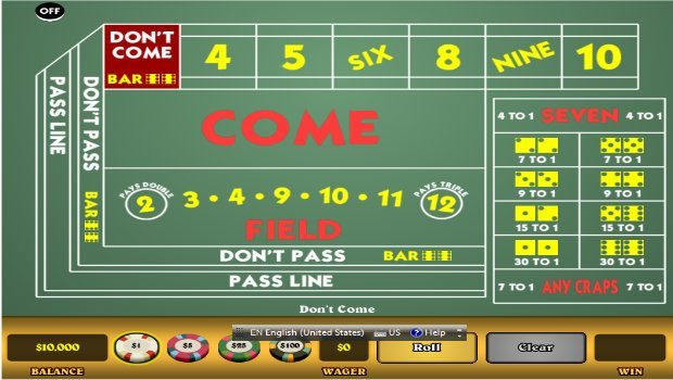 Craps game online flash