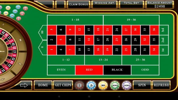roulette red black odds