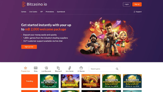 World's First Bitcoin-Only Online Casino Gets Site Revamp