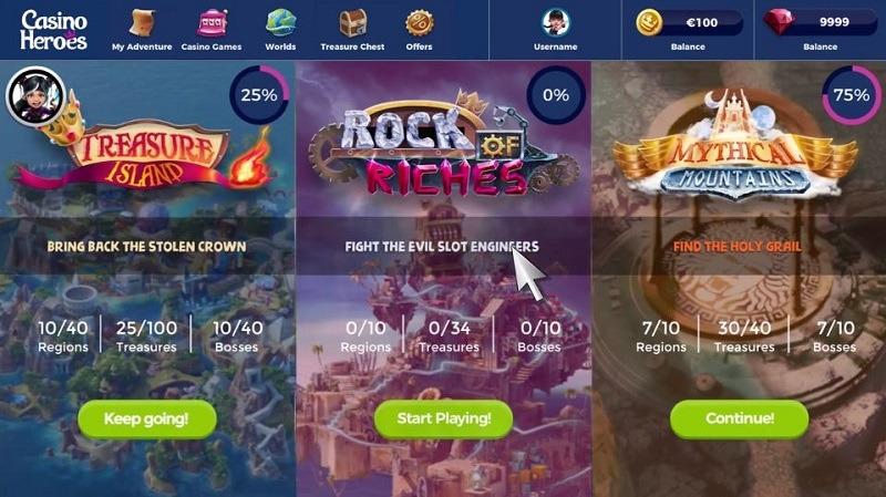 Smygtitt på nya Casino Heroes 3!