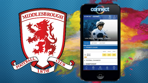 Coral Launches New Connect App and Extends Middlesbrough Deal